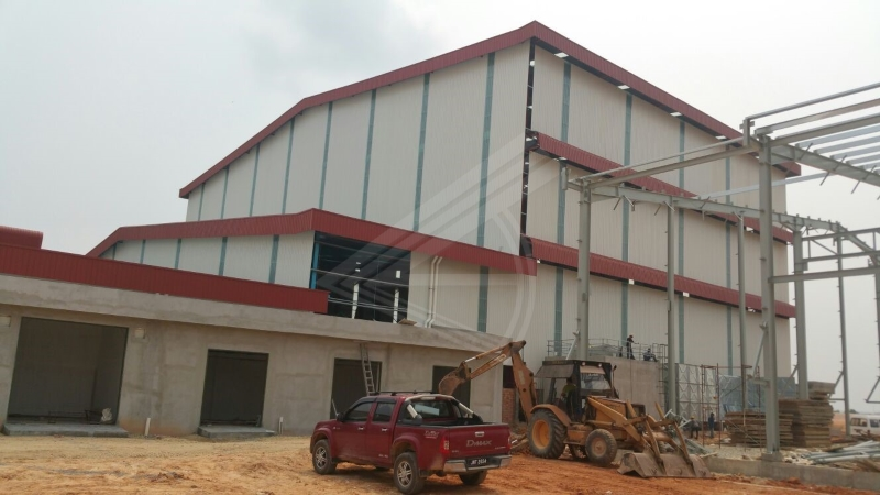 Fabricate of Steel Structure at Times Ceramica Sdn Bhd